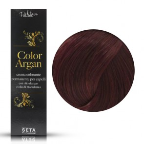 Crema Colorante Permanente, Color Argan, 5.66 Rosso Mogano, 120 ml