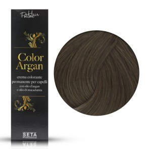 Crema Colorante Permanente, Color Argan, 6.1 Biondo Scuro Cenere, 120 ml
