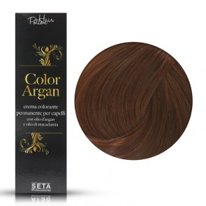 Crema Colorante Permanente - Color Argan -  7.43 Biondo Rame Dorato - 120 ml