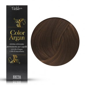 Crema Colorante Permanente, Color Argan, 7.7 Nocciola, 120 ml
