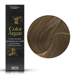 Crema Colorante Permanente, Color Argan, 8.13 Biondo Chiaro Cenere Dorato, 120 ml