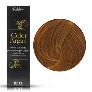 Crema Colorante Permanente - Color Argan -  8.43 Biondo Chiaro Rame Dorato - 120 ml