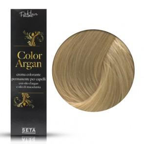 Crema Colorante Permanente, Color Argan, 9.0 Biondo Chiarissimo Luminoso, 120 ml