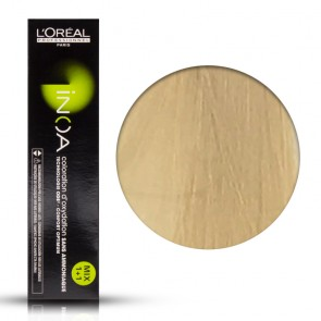 Tinta Capelli Inoa 10 Colore Professionale Biondo Chiarissimo Platino, L'Oreal, 60 gr