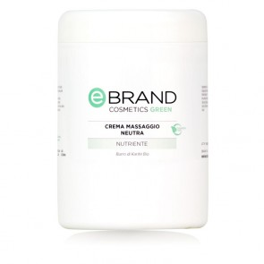 Crema Massaggio Corpo Neutra - Ebrand Green - Vaso da 1000 ml