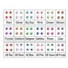 Set Swarovski Punto Luce Medio 12 Colori, Decorazione Nail Art