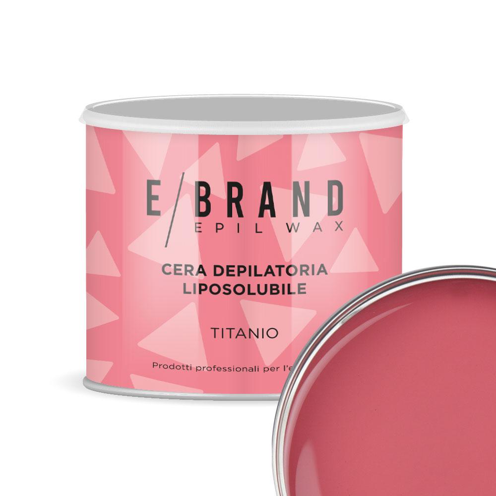 Cera depilatoria biossido di titanio rosa delicata liposolubile