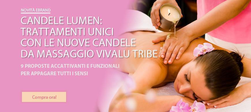 candele da massaggio Lumen
