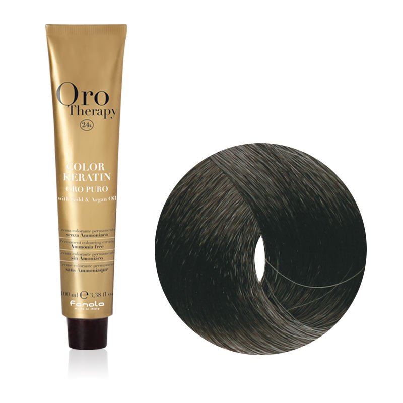 Tinta Capelli Nero 1.0 Professionale, Color Keratin, Oro Therapy