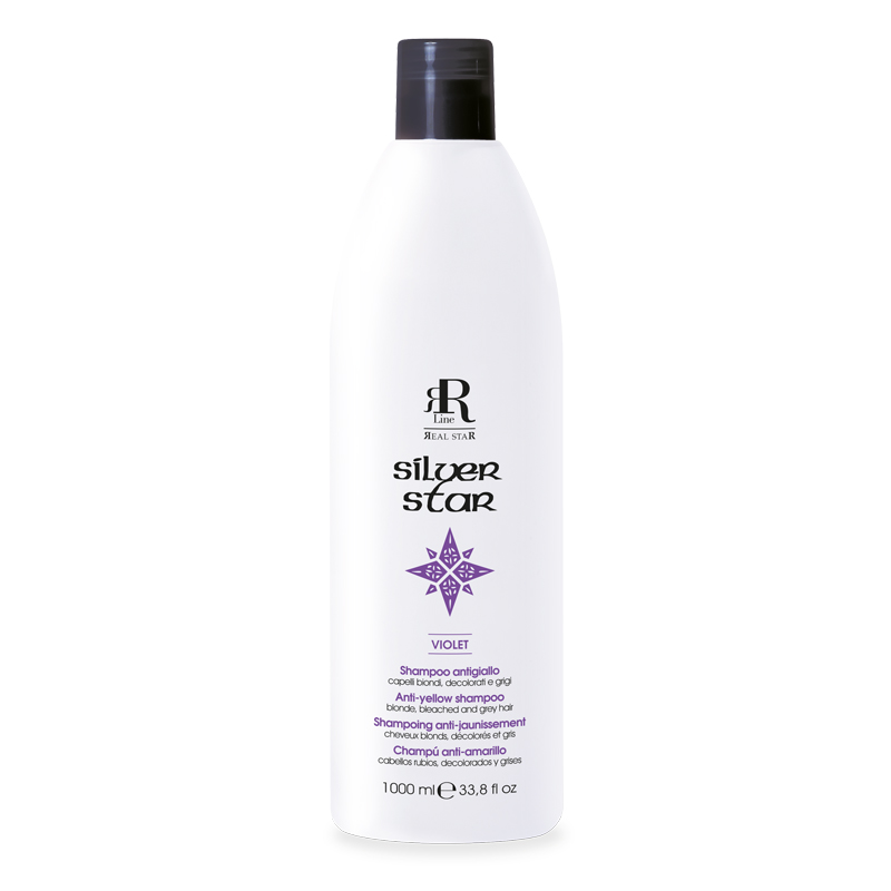 Shampoo Antigiallo Silver Star, 1000 ml, RR Real Star