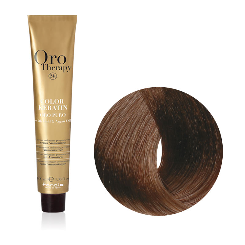 Tinta Capelli Biondo Scuro Intenso 6.00 Professionale, Color Keratin, Oro Therapy