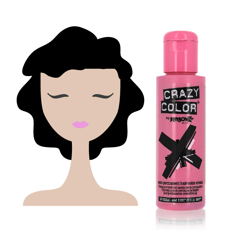 Tinta Semipermanente Colore Nero Crazy Color, 030 Black
