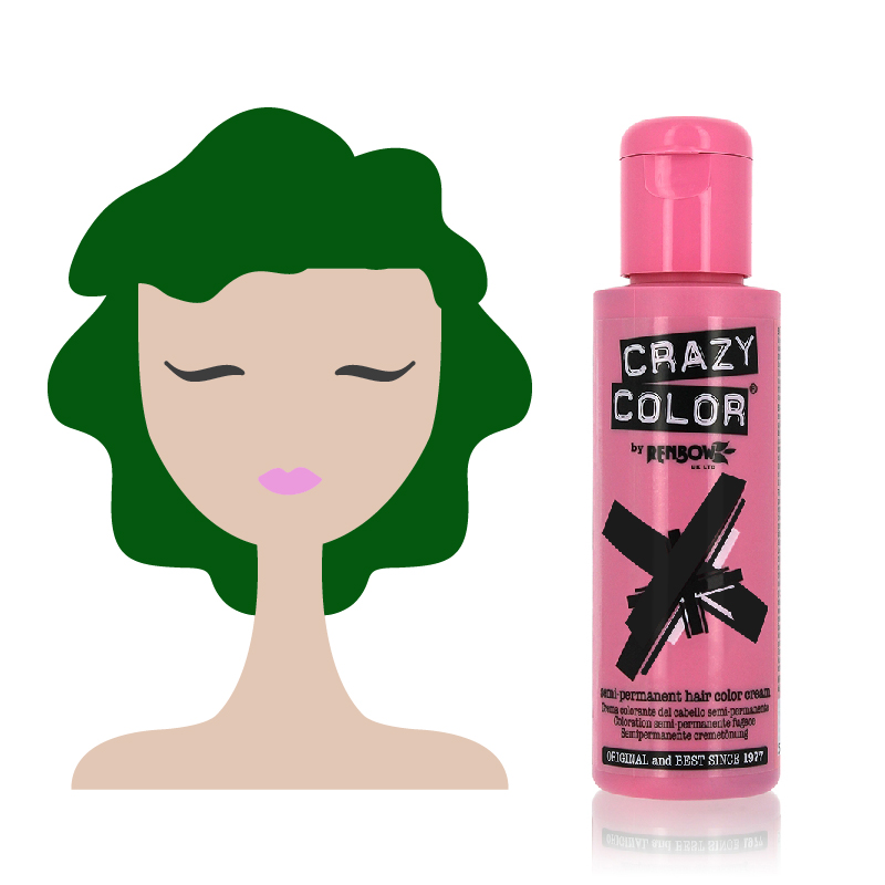 Tinta Semipermanente Verde Smeraldo Crazy Color, 52 Emerald Green