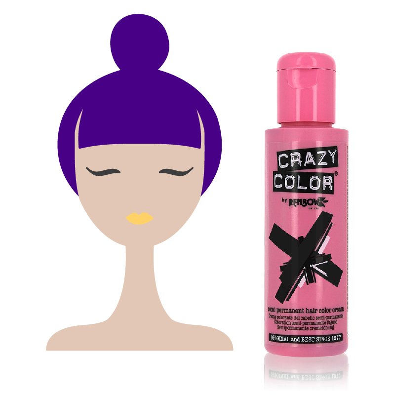Tinta Semipermanente Viola Crazy Color, 62 Hot Purple