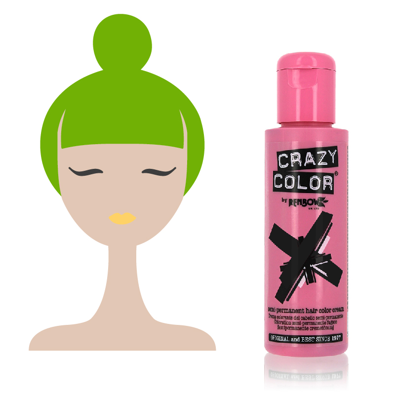 Tinta Semipermanente Verde Crazy Color, 68 Lime Twist