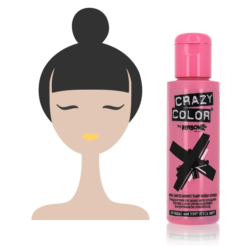 Tinta Semipermanente Nera Crazy Color, 032 Natural Black