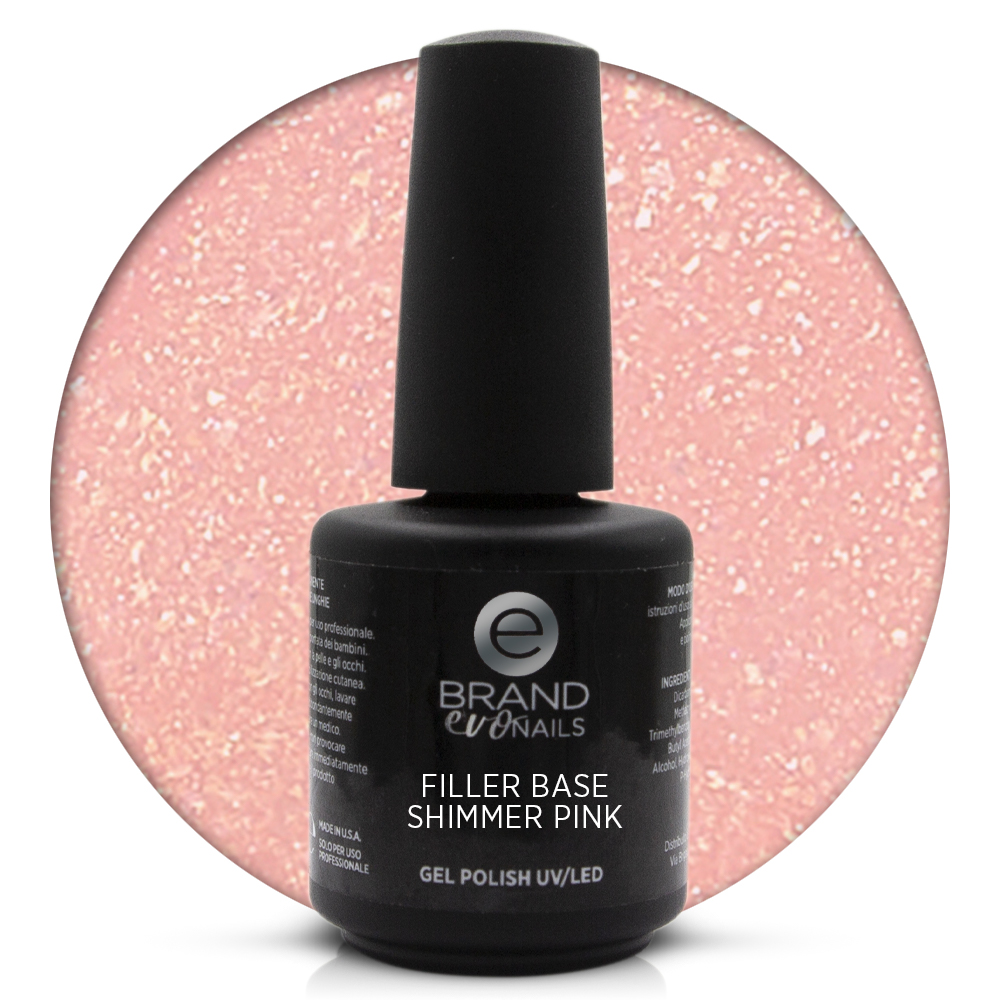 Filler Base Shimmer Pink, Evonails, 15 ml