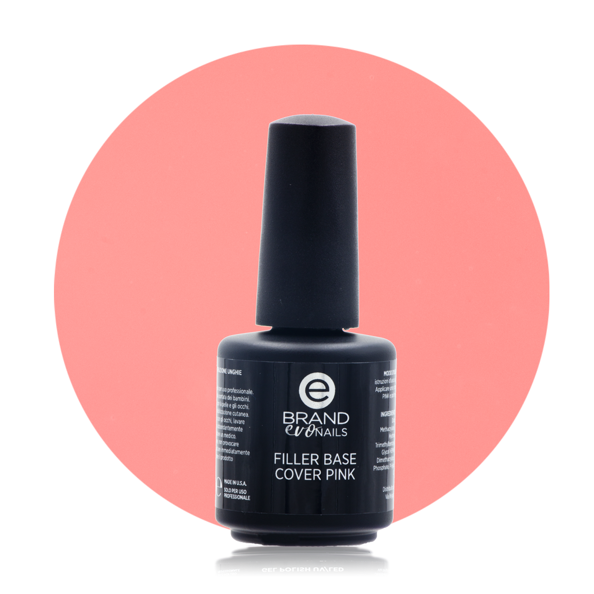 Filler Base Cover Pink, 15 ml, Evo Nails