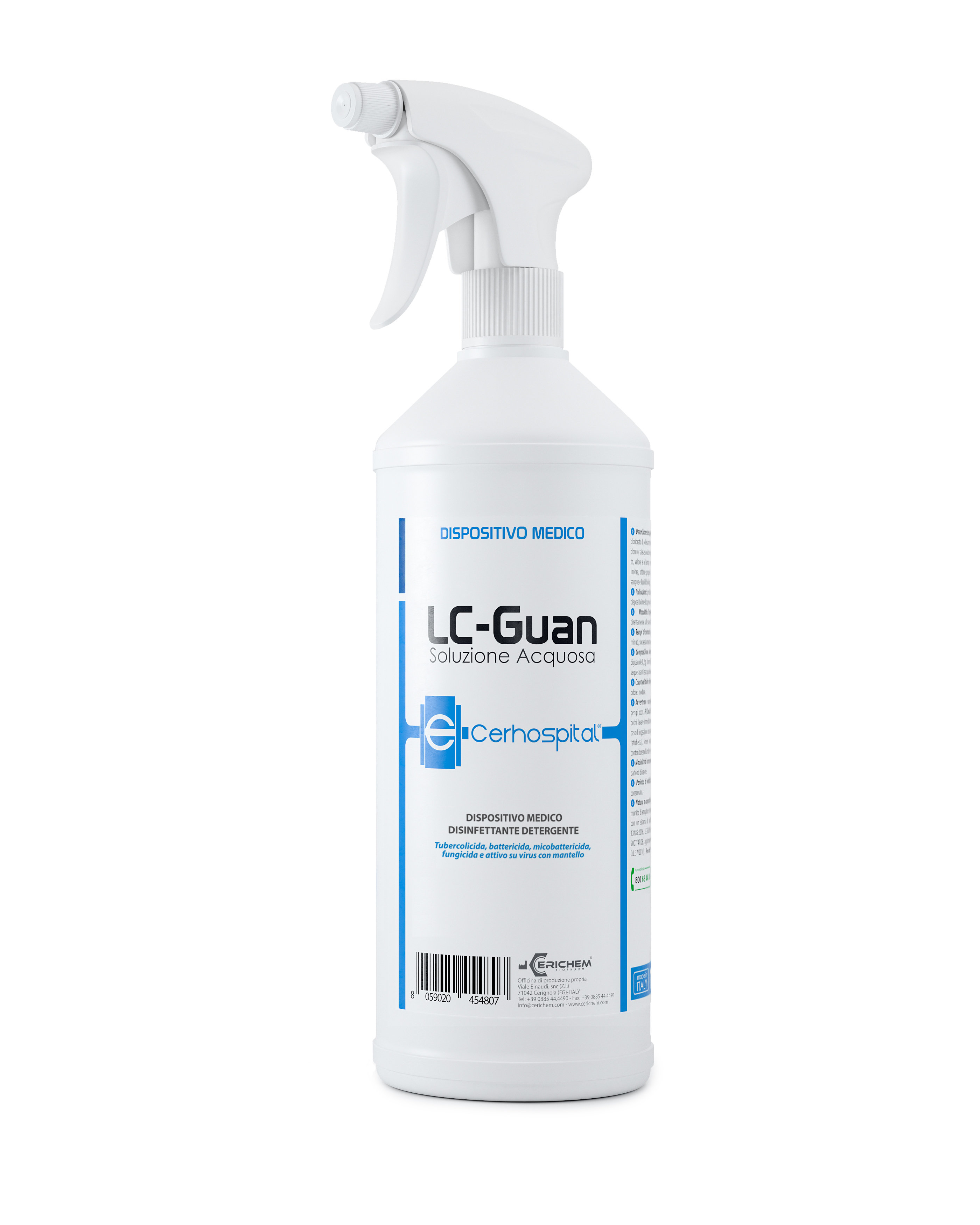 Spray Disinfettante Superfici SX LCGUAN, 1000 ml