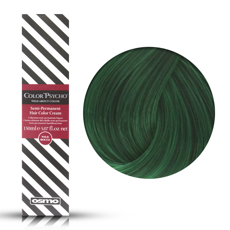 Osmo Color Psycho Wild Green, Colorazione Semi Permanente In Crema Verde, 150 ml