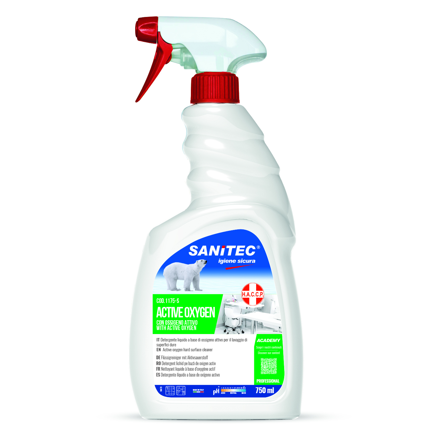 Spray Igienizzante Active Oxigen 750ml - Sanitec