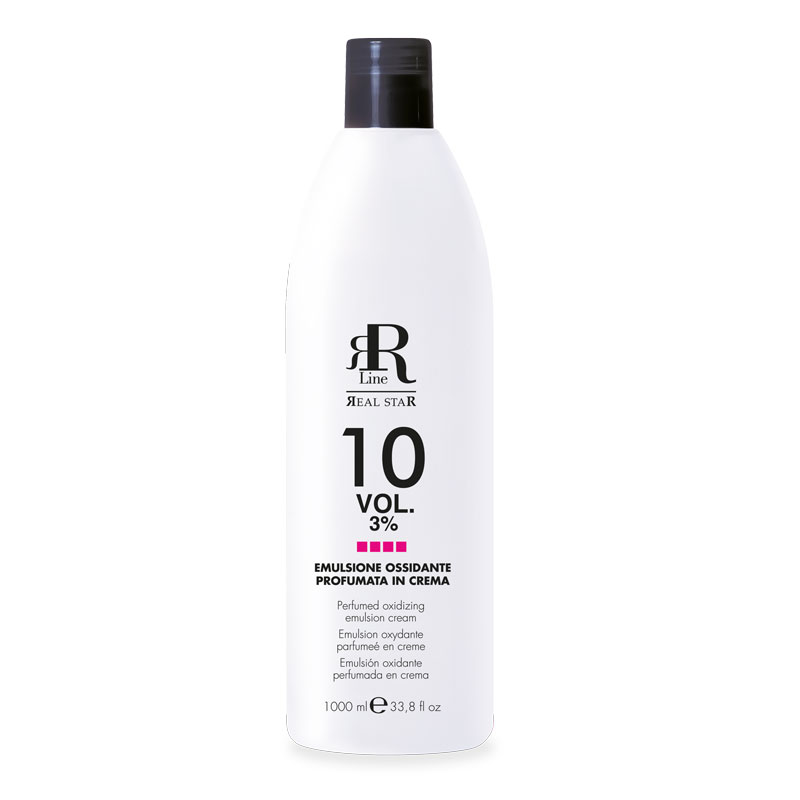 Emulsione Ossidante Profumata in Crema 10 Vol. 3%, RR Real Star, 1000 ml