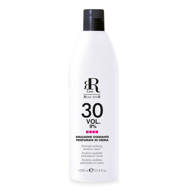 Emulsione Ossidante Profumata in Crema 30 Vol. 9%, RR Real Star, 1000 ml