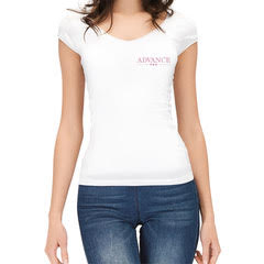 T-Shirt Donna Bianca in Cotone 100%, Advance Pro