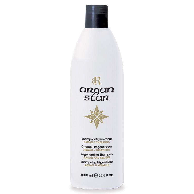 Shampoo Rigenerante Argan Star, 1000 ml, RR Real Star